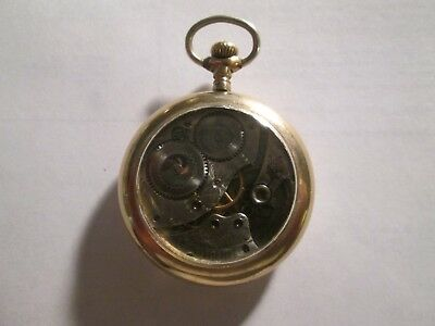 1917 12S Waltham 15J In Gold Filled Display Type Case Runs Well.