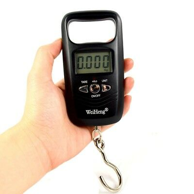 50Kg /5g Hanging Scale Pocket LuggageDigital Fishing Weight Backlight WFEU