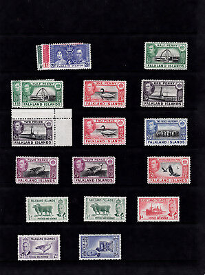 Falkland Islands 1938-52 Gv1 Issues Mint