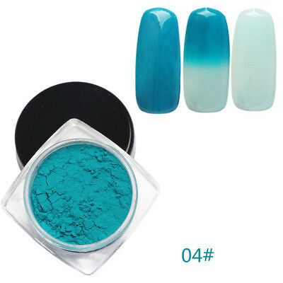 12 Colors Thermochromic Thermal Change Temperature Powder Dust Gradient Nail Art