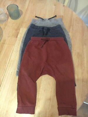 3 pairs of Boys Leggings / Joggers Next Age 12-18 Months *Good Condition*