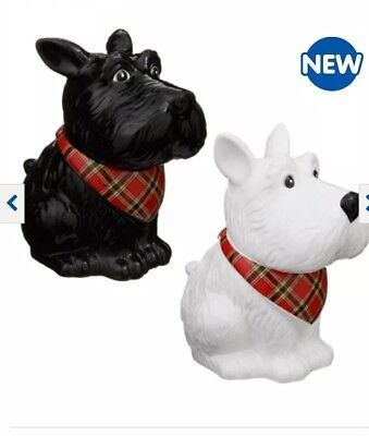 Scotty Dog Cookie Jar And Cookies, Free Fast P&p