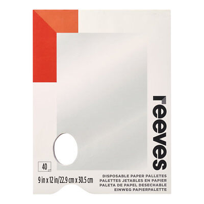 Reeves Tear Off Disposable Paper Paint Palette 40 Sheets 9 x 12 Inches