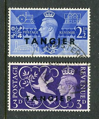 Tangier: 1946 Victory Set of 2 Stamps SG253-254 Fine Used AW194