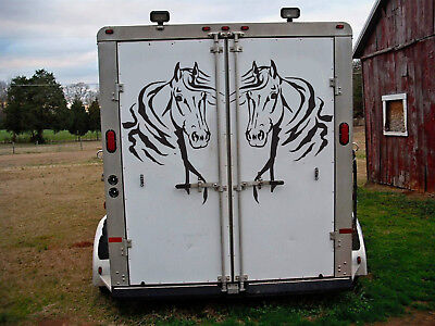 2 X Horse Head Sticker Transfer Stable Horsebox Trailer Decal