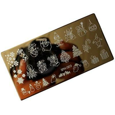 Christmas DIY Nail Art Image Stamp Stamping Plates Manicure Template C*