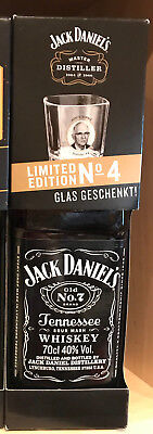 Jack Daniels Master Distiller 4 Clas Set  with Box Free SHIPPING Worldwide
