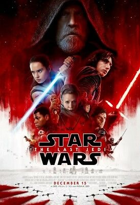 """Star Wars The Last Jedi Official Final 27"""" X 40"""" Double Sided Theater Poster NEW"""