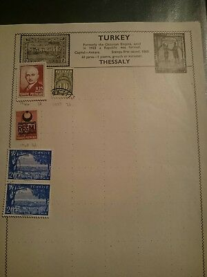 Turkey Used Stamps x5 1946 onwards