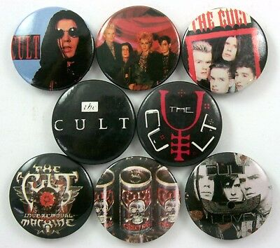 THE CULT BUTTON BADGES 8 x Vintage The Cult Pin Badges * Ian Astbury *