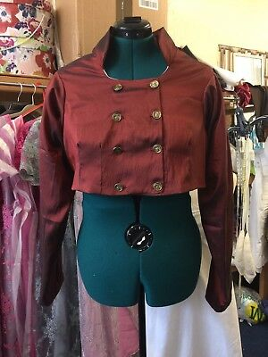 Double Breasted Copper Taffeta Regency  Spencer Jacket.