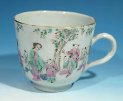 Antique Chinese Porcelain Handpainted Cup - Red Seal Type Mark.