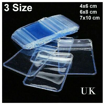 Small Clear Bags Strong Plastic Baggies Grip Self Seal Resealable Zip Lock