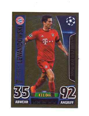 Match Attax Champions League 2015/16 Limited Edition LE7 Gold Lewandowski #370