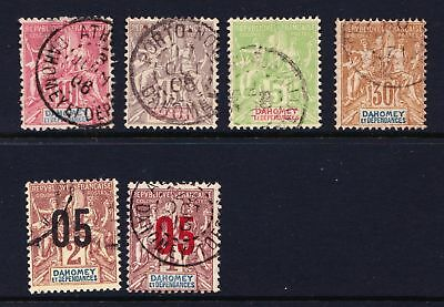 Dahomey 1899 - 1912 Small group of used classics  - (576)