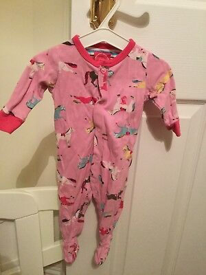 Joules Pink Horses Babygrow Age 0-3 Months