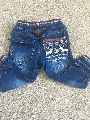 Boys Next Christmas Jeans 12-18 Months