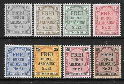 GERMANY - 1903 Officials - Set of 8, MH