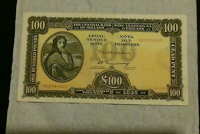 1975 Ireland Irish £100 Pounds Lady Lavery Banknote  U.N.C