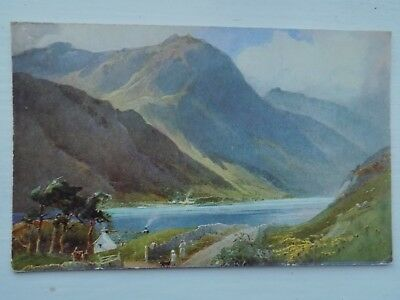 Lake Buttermere Westmorland Cumbria Lake District Old Unposted Postcard a