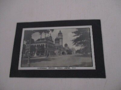 Vintage Government Offices, Kuala Lumpur  F.m.s. Postcard