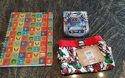 Marvel/Avengers boys boxer shorts 10-11 , yoyo and A4 notebook stocking fillers