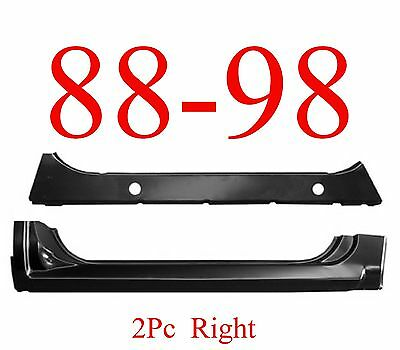 88 98 RIGHT 2Pc Extended Rocker & Inner Rocker Chevy GMC Truck 1.2MM Thick