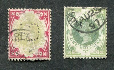 Stamp Lot Of Great Britain One Shilling Issues