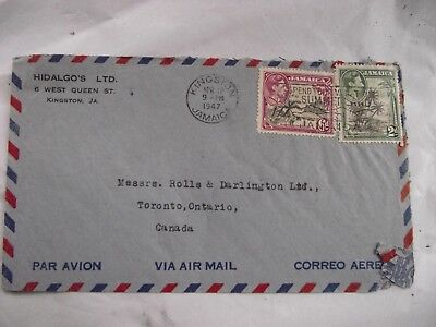 Jamaica Air Mail Letter To Canada - Hidalgos