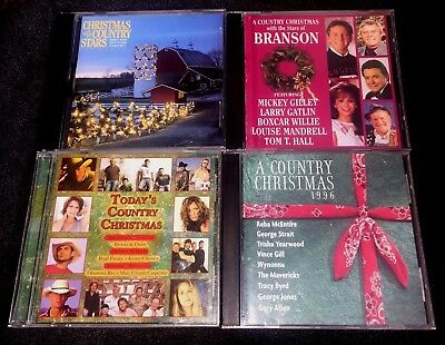 Christmas Country Various Artists Christmas Music CD George Strait Lot of 4