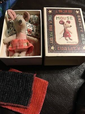 Maileg Collectible mouse In A Match Box