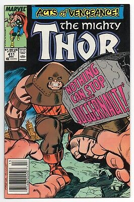 MIGHTY THOR #411 | Vol. 1 | 1st New Warriors cameo | Newsstand UPC | 1989 | VF+