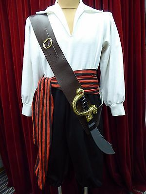 Pirate Brown Leather Look Sword Belt Pirate Prince King