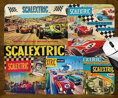 Unique Mouse Pad - Tri-Ang Scalextric Box Art Collage
