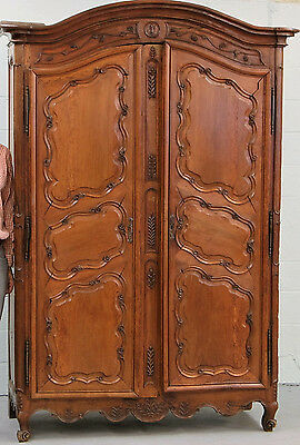 18Th Century Carved Walnut Armoire ~ Ca. 1760-1780