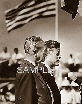 1962 president JOHN F KENNEDY & Former British Prime Minister MAC MILLAN PHoto