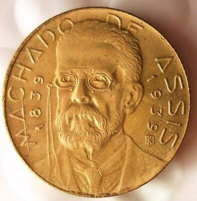 1939 BRAZIL 500 REIS - AU/UNC - Very Scarce Coin - Hard to Find - Lot #123