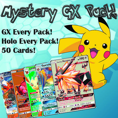 Pokemon Trading Card Game Booster Pack & Starter kit Contains Rare GX Card