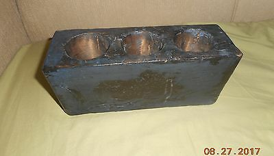 AAFA ANTIQUE 1800s RAW SUGAR MOLD GR8 INDIGO COBALT BLUE PAINT