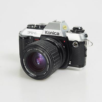 >Konica FT-1 Motor Vintage Film Outfit W/ Sigma Zoom Lens