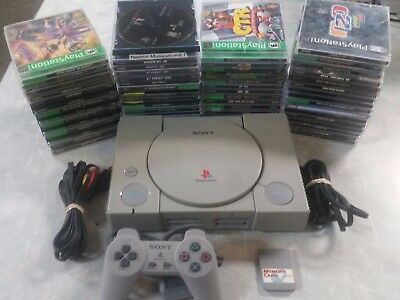 Sony PlayStation PS1 Gray Console System with games
