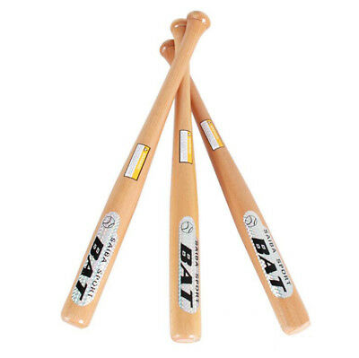 Solid Wood Wooden Baseball Bat 25 28 31 Inch Rounders Softball Adult Kids Bats