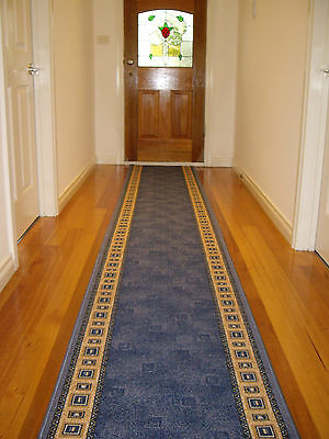 Hallway Runner Hall Runner Rug Modern Blue 4 Metres Long FREE DELIVERY