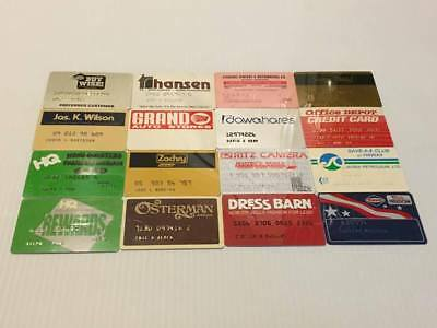Lot of 16 Vintage Retail Store Cards Credit Charge Card R1