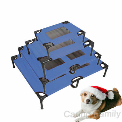 Extra Heavy Duty Pet Dog Trampoline Hammock Bed Foldable Frame Cat Puppy Cover