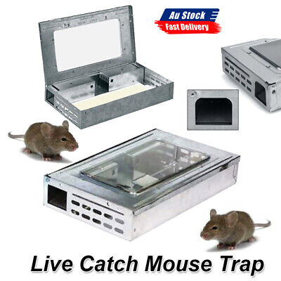 Live Catch Mouse Mice Humane Safe Self Catching Metal Reusable Trap AU POST