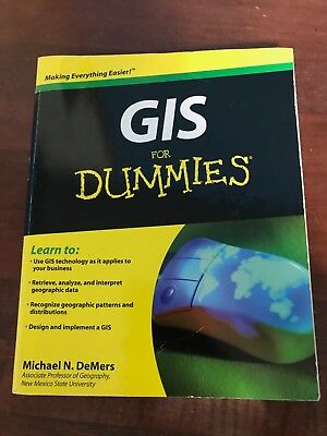 GIS for Dummies by Michael N. DeMers (English) Paperback Book 2009