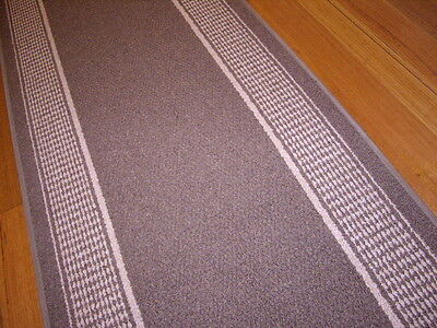 Broadway Hallway Runner Hall Runner Rug Modern Brown 4 Metres Long 13411 P