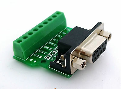 DB9 DSUB 9-pin Female Adapter RS-232 Breakout Board Connector (D2)