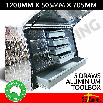 Aluminium Side Open Drawer Toolbox 1220 Half Opening Ute Truck Trailer Tool Box